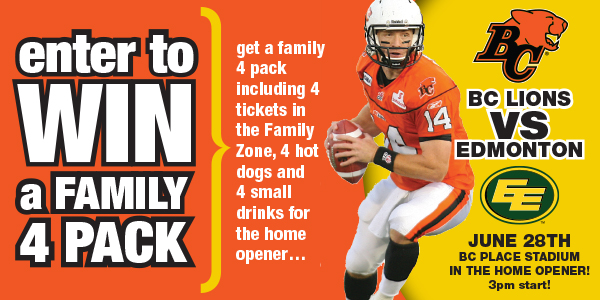 Black Press contests - BC Lions