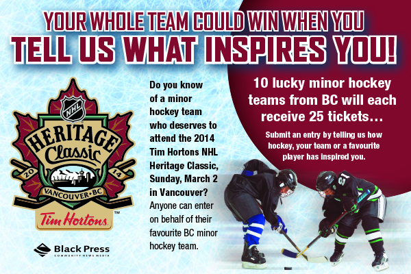 Submit an entry by telling us how hockey, your team or a favourite player has inspired you.